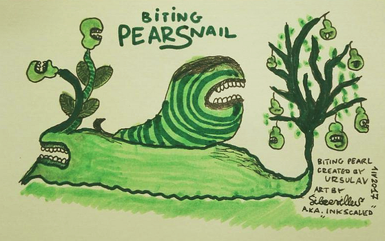 Biting Pearsnail by InkScaled