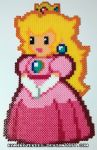 Princess Peach Perler Beads by kamikazekeeg