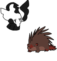 Magpie and Sharporcupine by LordMuffinX3