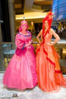 Princess Bubblegum and Flame Princess by AngelSamui
