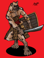 Gnoll Mercenary by Shabazik