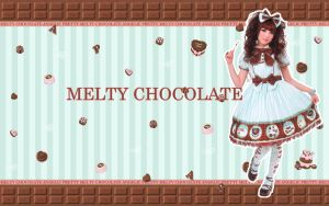 Melty Chocolate Background by kissmykandi
