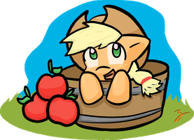 Lil' Applejack by Zutcha