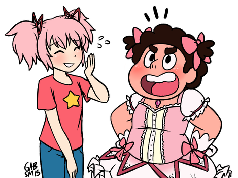 Magical Pink Protagonists in Dark Scary Worlds by serenamidori