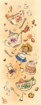 Down the Rabbit Hole for Tea by Chibi-Joey