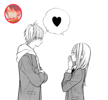 Anime Couple Render by giselle0031