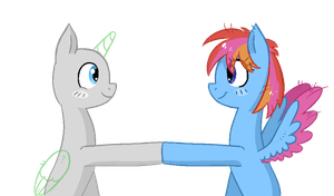 Open Collab - Brohoof with Headlong by Reporter-Derpy