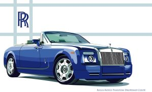 rolls royce coupe vector by xeonos