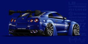 Commission 2 - LB Works GTR by Spoonboy