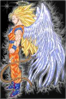 Angel Goku Super Sayayin 3 by Zaffron