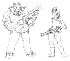 Left for Dead Whateley sketche by Drunkfu