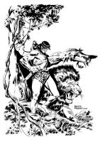 TARZAN AND LION by benitogallego