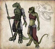 Denzyri male and female by FreezingHot