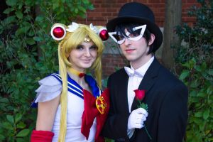 Sailor Moon and Tuxedo Mask - AAC 2014 by ScottyMorace