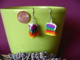 Fimo_Rainbow biscuit by LadyxWinter