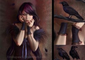 Raven Goth close-up by EmiliaPaw5