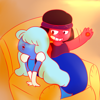 Ruby x Sapphire Spanking by FannyThePaddle