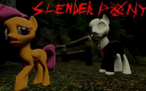SlenderMane / Slender pony Gmod/SFM model DL by LunarGuardWhoof