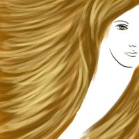 Hair Practice in PaintTool SAI - 001 by kwikdraw