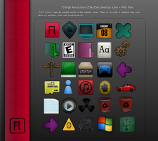 30 Random Desktop Icons by Solonir