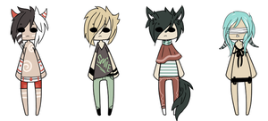 -DerP- Adoptables -CLOSED- by TribalPrince