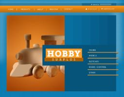 Hobby Surplus homepage redesig by jomo0625