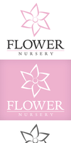 Flower Nursery Logo by xstortionist