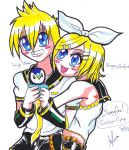Rin-chan and Len-kun by Pabbie