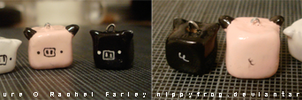 CUBE PIGG CHARMS by nippyfrog
