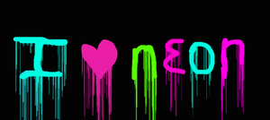 i heart neon by XXLEIAXX