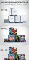 3D Cubes Photoshow Mock-up by idesignstudio