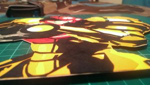 Samus Paper cut close up by swiftflik