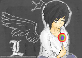 (Death Note: L Lawliet) An Angel by monochromevoicestory