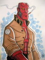 Hellboy Convention Sketch by calslayton