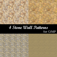 4 Stone Wall Patterns for GIMP by spaceyoyo