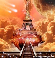 floating eiffel by marvillion