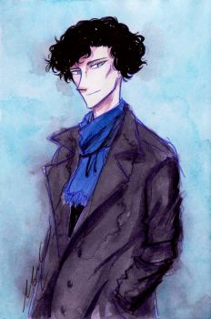 First Sherlock doodle by monyta