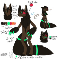 Jioko ref sheet by MonsterMeds