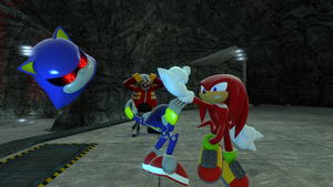Unlike Sonic he doesn't chuckle by ApocHedgie