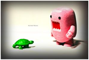 Domo meets Turtle by RavensAndRoses