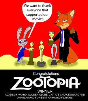 Congratulations to Zootopia by Trey-Vore