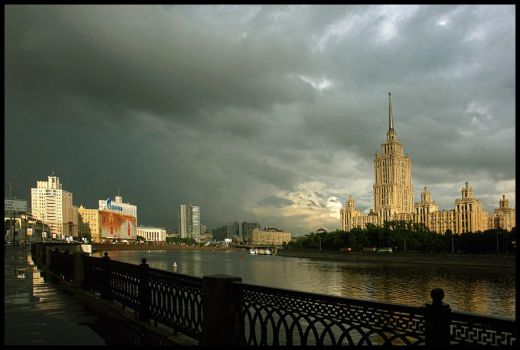 Rainy evening in Moscow by Nickdan
