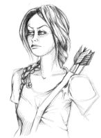 Katniss Everdeen by bibbidy-boo