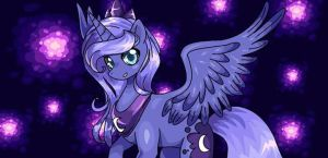 Luna and the fireflys by papptimea84