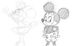 Mickey And Minnie by LadySomnambule