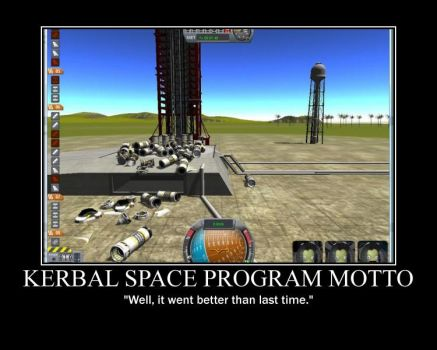First Kerbal Space Program Motivator by XVeris