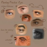 Painting Practice: Eyes by Pretty-Angel