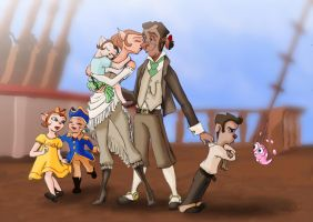 Dopplers family photo after the wedding by Clanaad