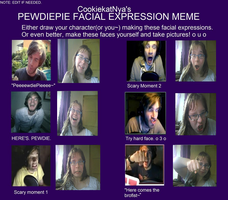 Pewdiepie facial expression 8D by HikaruStarn