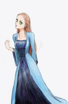 Mulher com roupa medieval . . . by LuciAyu